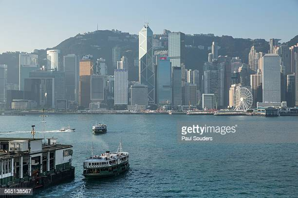 Star Ferries and City Skyline, Hong Kong, China