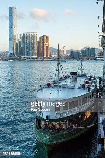 Star Ferry and Kowloon Skyline, Hong Kong, China