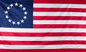 Original 13 star colony flag of United States