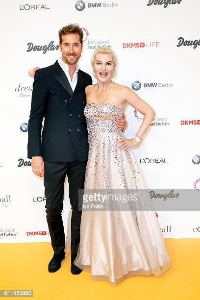 Star Hair Stylist Joerg Oppermann and opera singer Kriemhild Siegel attend the Dreamball 2016 at Ritz Carlton on September 29 2016 in Berlin Germany