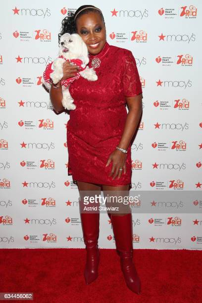 Star Jones and her dog Pinky attend the American Heart Association's Go Red For Women Red Dress Collection 2017 presented by Macy's at Fashion Week...