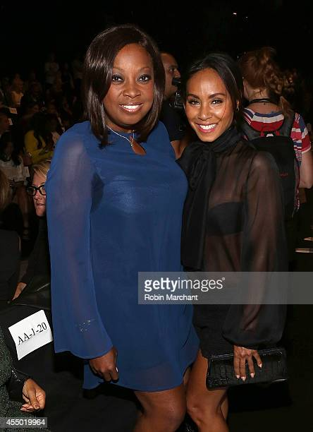 Star Jones and Jada Pinkett Smith attend Dennis Basso during MercedesBenz Fashion Week Spring 2015 at The Theatre at Lincoln Center on September 8...