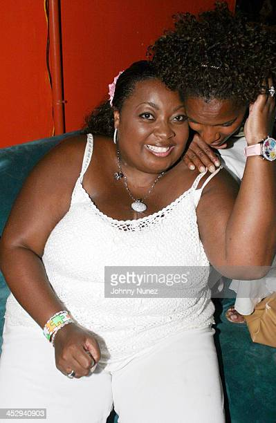 Star Jones and Vanessa Bell Calloway during Sean P Diddy Combs' Fourth of July East Hampton Party at The Resort in East Hampton New York United States