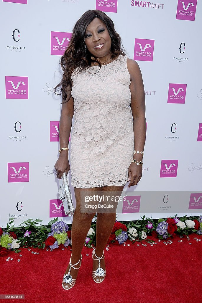Star Jones arrives at the Vivica A. Fox 50th Birthday party at Philippe Chow on August 2, 2014 in Beverly Hills, California.