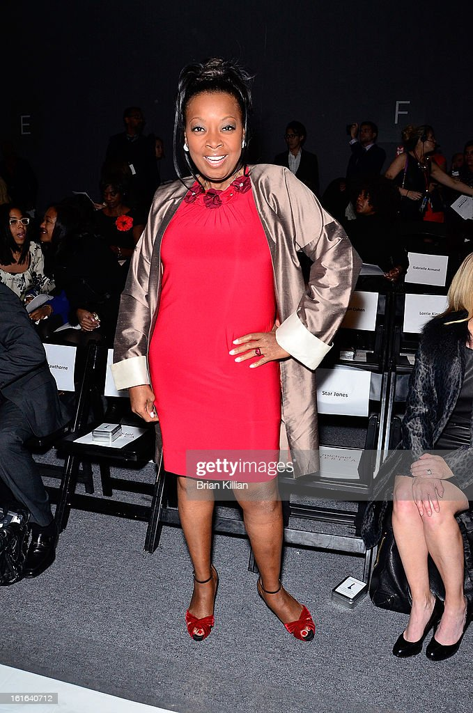 <a gi-track='captionPersonalityLinkClicked' href=/galleries/search?phrase=Star+Jones&family=editorial&specificpeople=202645 ng-click='$event.stopPropagation()'>Star Jones</a> attends B Michael America during Fall 2013 Mercedes-Benz Fashion Week at The Studio at Lincoln Center on February 13, 2013 in New York City.