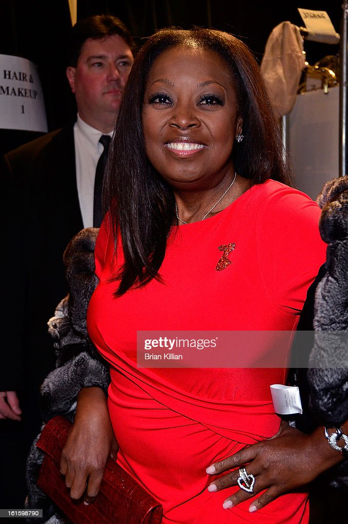 <a gi-track='captionPersonalityLinkClicked' href=/galleries/search?phrase=Star+Jones&family=editorial&specificpeople=202645 ng-click='$event.stopPropagation()'>Star Jones</a> attends Dennis Basso during Fall 2013 Mercedes-Benz Fashion Week at The Stage at Lincoln Center on February 12, 2013 in New York City.
