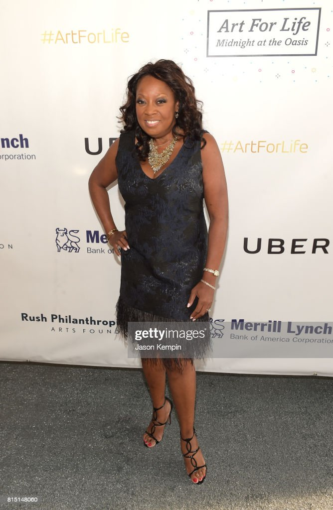 Star Jones attends 'Midnight At The Oasis' Annual Art For Life Benefit hosted by Russell Simmons' Rush Philanthropic Arts Foundation at Fairview Farms on July 15, 2017 in Water Mill, New York.