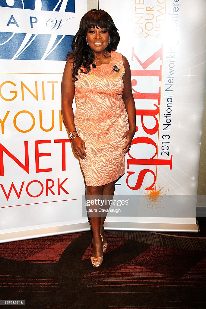 <a gi-track='captionPersonalityLinkClicked' href=/galleries/search?phrase=Star+Jones&family=editorial&specificpeople=202645 ng-click='$event.stopPropagation()'>Star Jones</a> attends the 2013 Spark. Ignite Your Network conference at the Sheraton New York Hotel & Towers on April 26, 2013 in New York City.