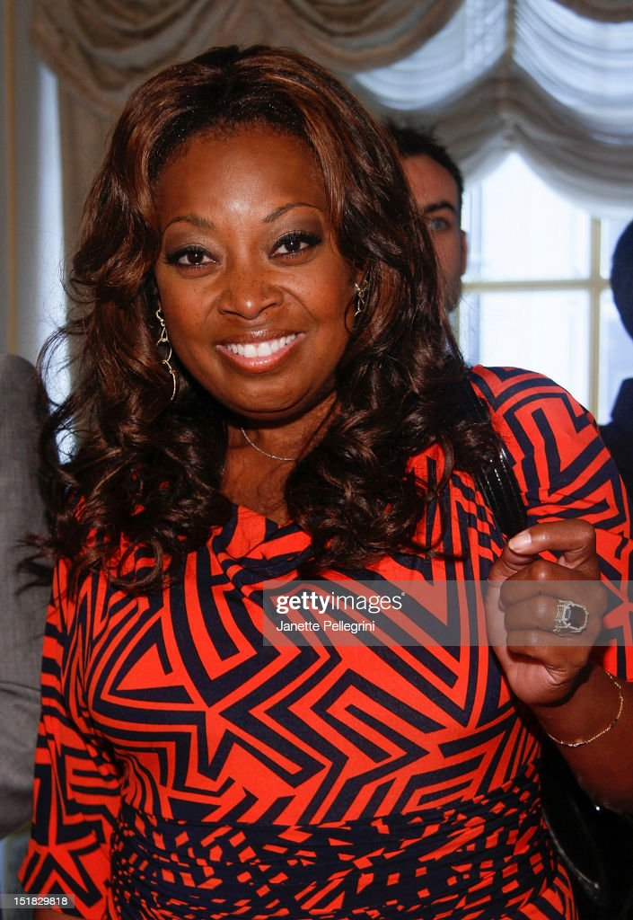 <a gi-track='captionPersonalityLinkClicked' href=/galleries/search?phrase=Star+Jones&family=editorial&specificpeople=202645 ng-click='$event.stopPropagation()'>Star Jones</a> attends the Dennis Basso spring 2013 presentation during Mercedes-Benz Fashion Week at the St. Regis Hotel on September 11, 2012 in New York City.