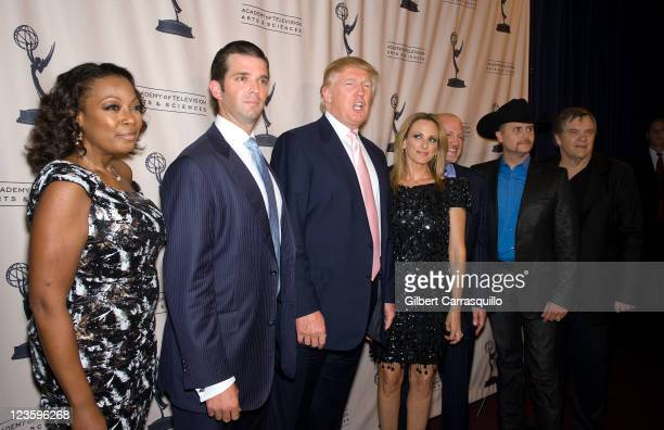 Star Jones Donald Trump Jr Donald Trump Marlee Matlin Jim Cramer John Rich and Meatloaf attend An Evening with 'The Celebrity Apprentice' at Florence...