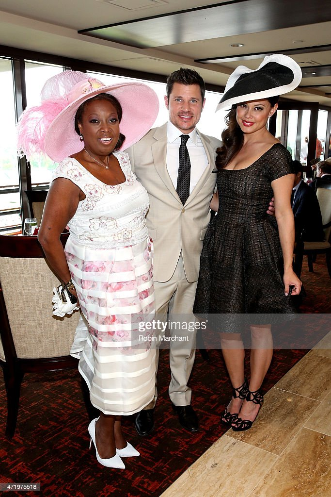 Star Jones, Nick Lachey and Vanessa Lachey attend the 141st Kentucky Derby at Churchill Downs on May 2, 2015 in Louisville, Kentucky.