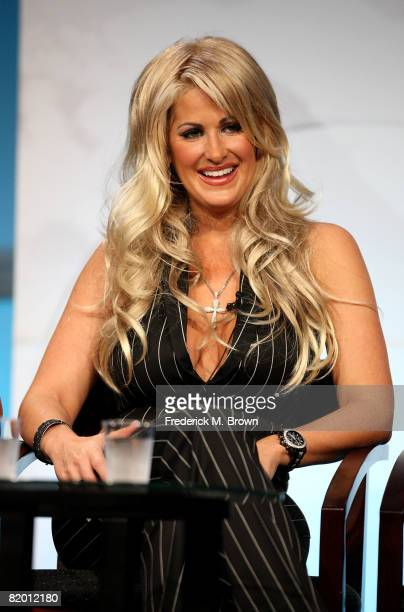 Star Kim Zolciak of 'The Real Housewives Of Atlanta' speaks during day 13 of the Bravo portion of NBC Universal 2008 Summer Television Critics...