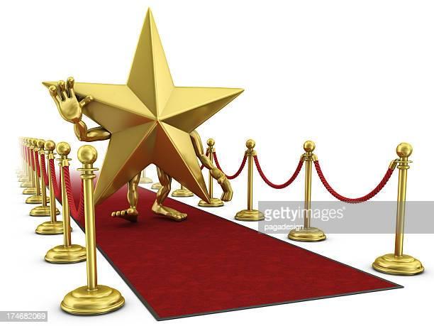star man walking on the red carpet