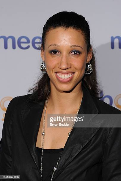 WNBA star Nicole Powell attends Meebo's Celebration of Five Years Of Helping People Share And Connect at Amnesia NYC on October 14 2010 in New York...