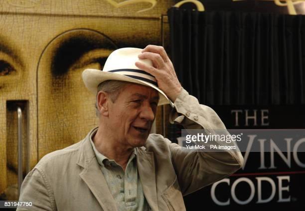 Star of 'The Da Vinci Code' Sir Ian McKellen attends the christening of a Eurostar train in the film's honour at the Eurostar international Terminal...