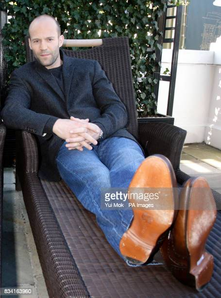 Star of the film Jason Statham during a photocall for 'The Bank Job' at The Mandarin Oriental Hotel in west London