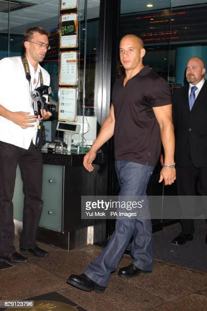 Star of the film Vin Diesel arrives for the premiere of The Chronicles Of Riddick at the Vue West End in Leicester Square central London