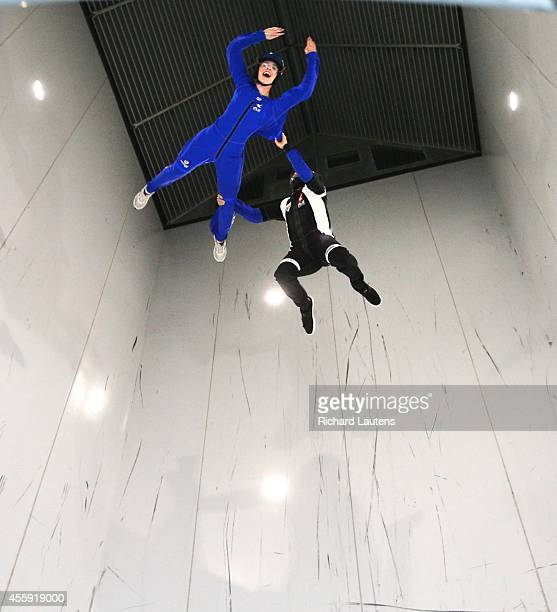 Star reporter Lauren Pelley goes up nearly 45 feet with instructor Adrian Uracz iFly is a relatively new indoor skydiving facility in Oakville The...