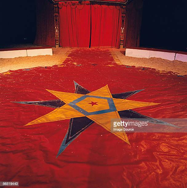 Star shape on circus tent floor