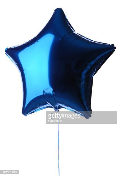 Palloncino a forma di stella Blu metallico