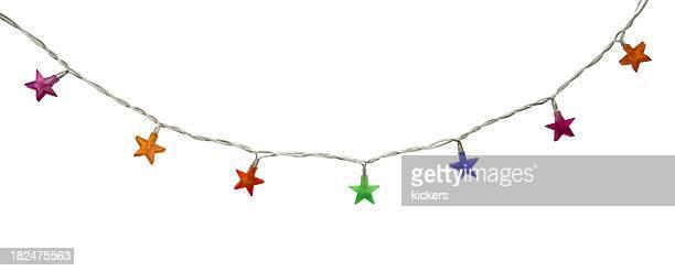 A forma di stella latern isolato su bianco