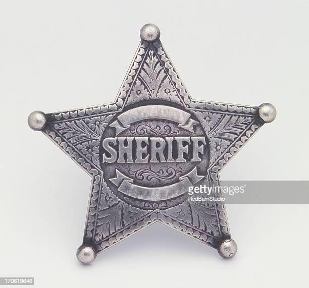 Star Shaped Sheriffs Badge, Badge, Star, Pin, Law