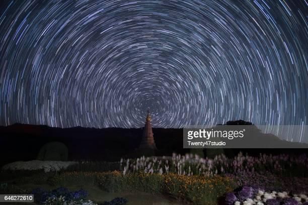 Star trail over Pagoda