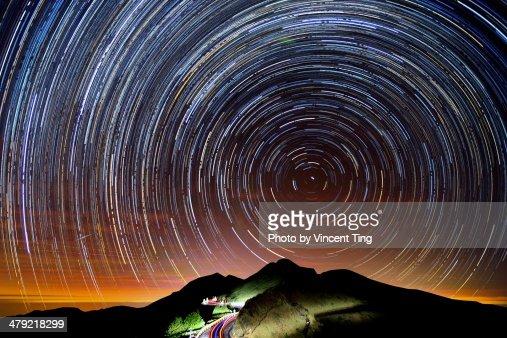 Star trails at Mt. Hehuan