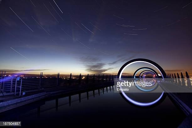 Star Trails at the Falkirk Wheel