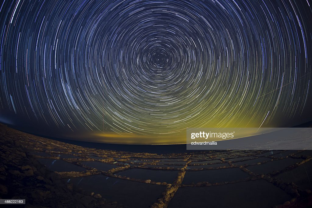 Star Trails - Gozo Salt Pans