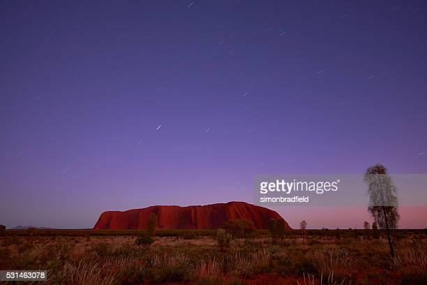 Star Trails Over Uluru