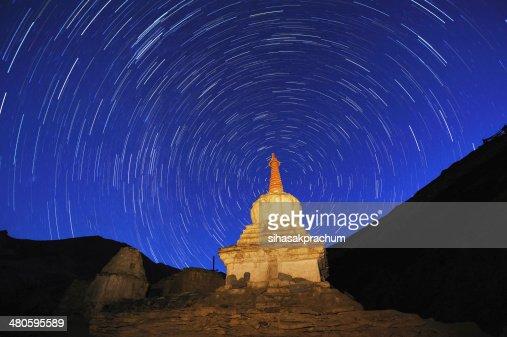 Star trails : Stock Photo