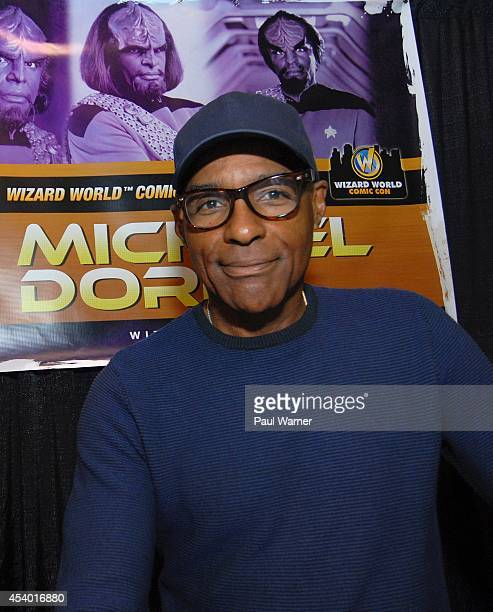 Star Trek actor Michael Dorn attends Wizard World Chicago Comic Con 2014 at Donald E Stephens Convention Center on August 22 2014 in Chicago Illinois