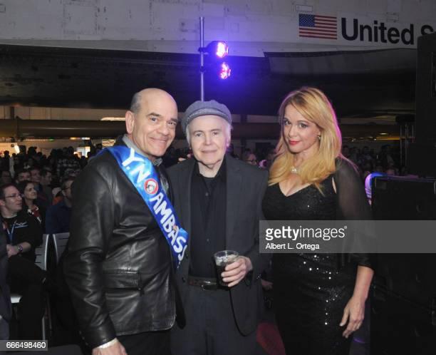 Star Trek Actors Robert Picardo Walter Koenig and Chase Masterson attend Yuri's Night LA held on April 8 2017 in Los Angeles California