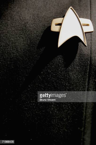 Star Trek combadge is pictured on August 2 2006 in London Christie's New York are marking the 40th anniversary of the science fiction series with a...
