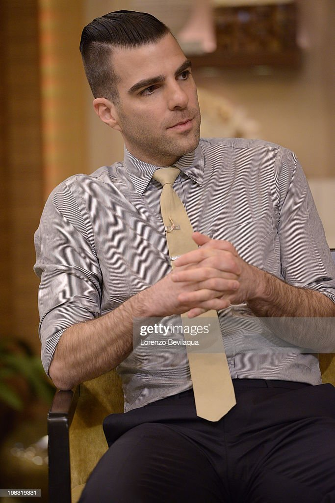 "MICHAEL -5/7/13 - ""Star Trek Into Darkness"" star ZACHARY QUINTO visits 'LIVE with Kelly and Michael,' distributed by Disney-ABC Domestic Television. QUINTO"