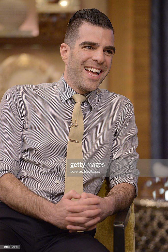 "MICHAEL -5/7/13 - ""Star Trek Into Darkness"" star ZACHARY QUINTO visits 'LIVE with Kelly and Michael,' distributed by Disney-ABC Domestic Television. ZACHARY"