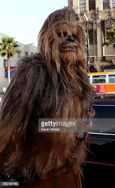 Star Wars character Chewbacca arrives at the 33rd AFI Life Achievement Award tribute to George Lucas at the Kodak Theatre on June 9 2005 in Hollywood...