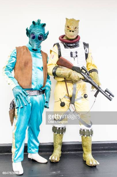 Star Wars Character cosplayers during the MCM Birmingham Comic Con at NEC Arena on March 18 2017 in Birmingham England