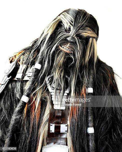 Star Wars character Tarfful the Wookie General by The 99th Garrison attend Star Wars Fan Fun Day at Burnley Football Club on May 4 2015 in Burnley...