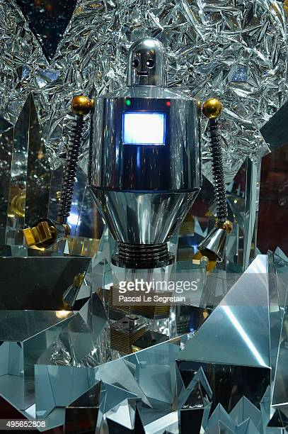 Star Wars decoration in display at Galeries Lafayette on November 4 2015 in Paris France