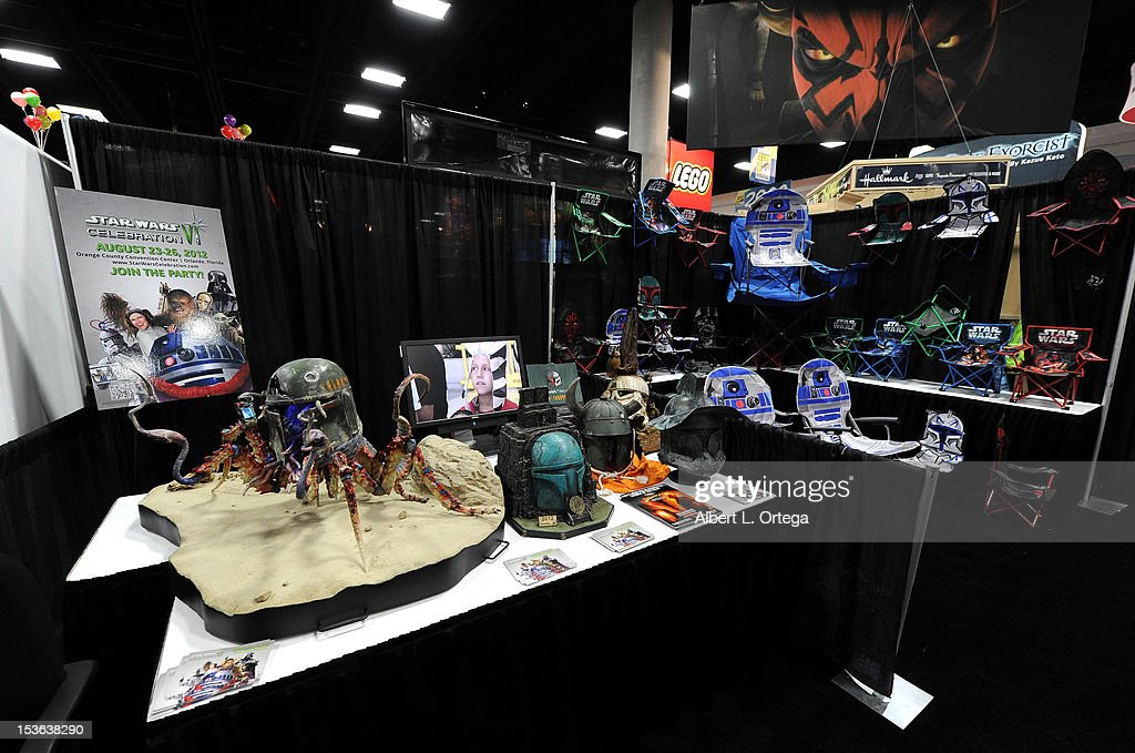 Star Wars display inside The Lucas Film booth during day 3 of Comic-Con International 2012 held at San Diego Convention Center on July 14, 2012 in San Diego, California.