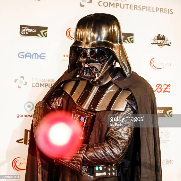 Star wars figure Darth Vader during the German Computer Games Award 2017 at WECC on April 26 2017 in Berlin Germany