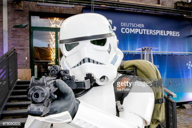 Star wars storm troop figure during the German Computer Games Award 2017 at WECC on April 26 2017 in Berlin Germany