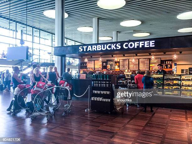 Starbucks Coffee at Copenhagen airport,, Denmark