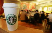 Starbucks Coffee outlet in the Central district of Hong Kong 09 June 2005 Starbucks have announced expansion plans in China in conjuction with a Hong...