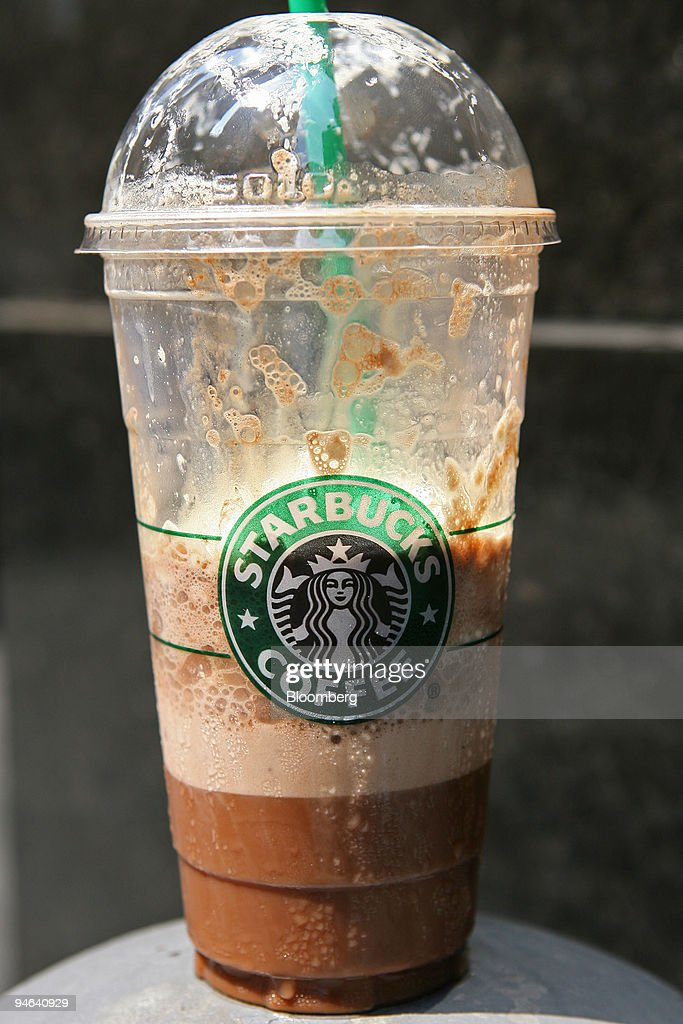 A Starbucks Mocha Frappuccino Light Blended Coffee Drink Is