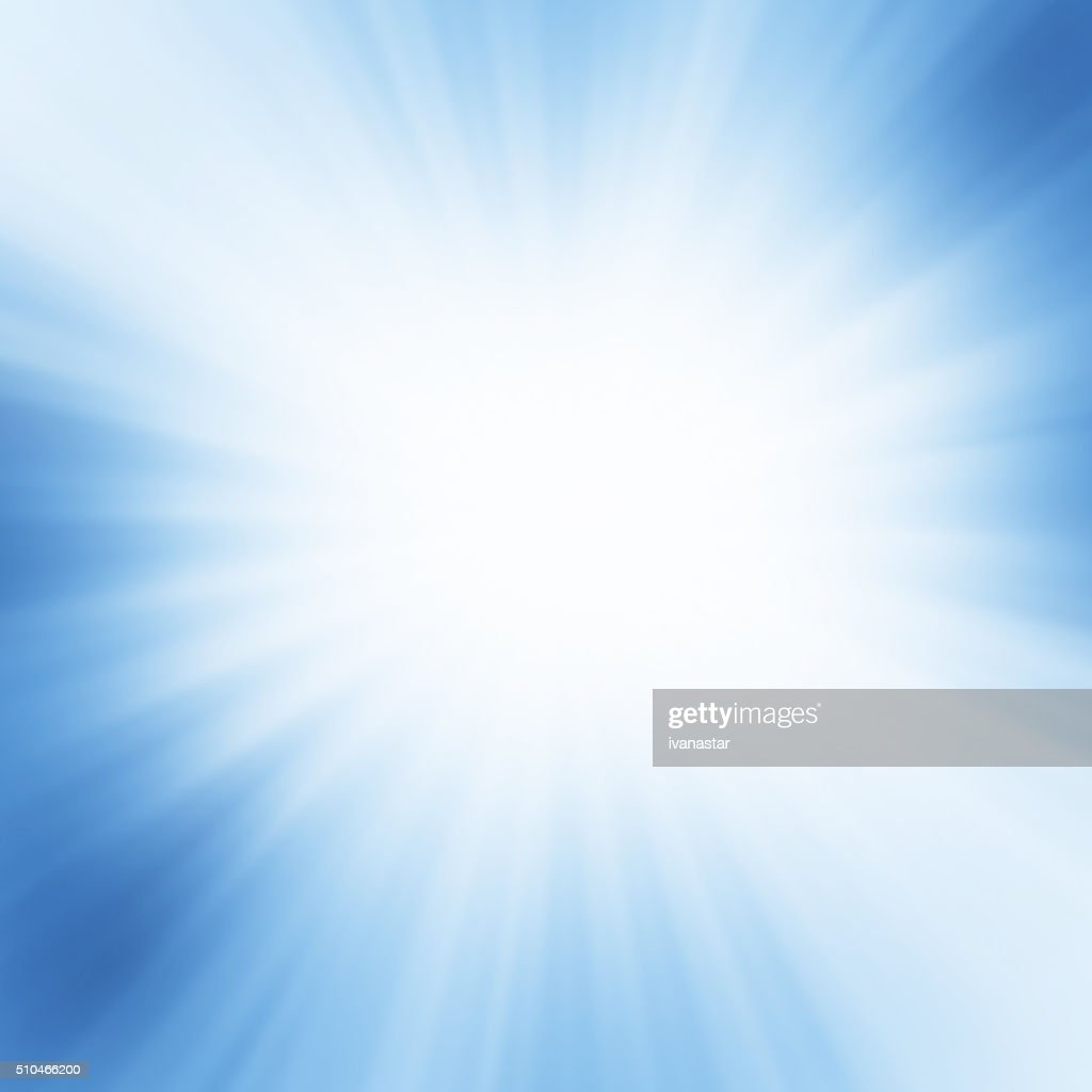 Starburst Blue Light Beam Abstract Background : Stock Photo