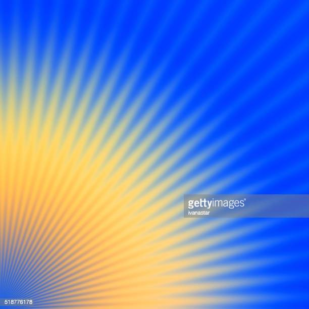 Starburst Blue Yellow Light Beam Abstract Background