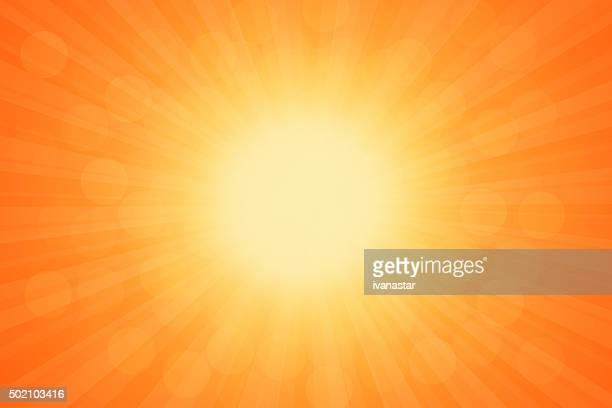 Starburst Orange Light Beam Abstract Background